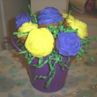 Flower_Bouquet.jpg  This was my first cupcake bouquet. I gave this to my aunt for her birthday. As you can see I need a little more practice, but my aunt...