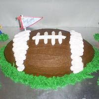 Touchdown This was a birthday cake for a 13 year old. His favorite sport is football as you can see. Hopefully I scored a touchdown with this one.