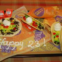 Taco Birthday My daughter came home from college for her b'day and was so excited to see there was Taco Bell food for her waiting. Fooled her! Choc...