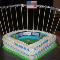 Yankee Stadium I made this for a customer who bought her husband Yankee's tickets for his birthday. It was hard for me to do -- I'm a huge Red...
