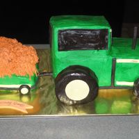 John Deere Tractor I made this for my father-in-law's birthday. (My in-laws live on a farm) Inspired by Boween's great tractor cake. WASC cake,...