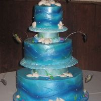 Fish Groom's Cake This was my first groom's cake! It's based on/inspired by the Colette Peters cake from the mystery cake challenge on Food Network...