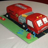 Firetruck Birthday Cake Another view!