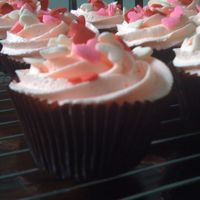 Pink Cupcakes For Friend's Birthday nothing special - 1M tip. Although I love the brown cases - I think it makes such a difference!