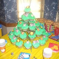Animal Cupcakes And Favors   I made the animal faces for the cupcakes and monkey favors for my nephew's first birthday party.