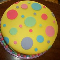 Polka Dot Baby Shower I made this cake for a polka dot themed baby shower...covered and decorated with MMF.