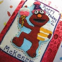 Elmo   I made this cake for my Niece's 2nd Birthday!