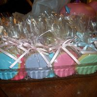 Polka Dot Cookies   These were the matching favors for the polka dot baby shower, covered in MMF