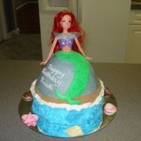 Little Mermaid I have seen a lot of these on CC, but was excited to try it myself! This is my first doll cake and I am pretty happy with how it turned out...