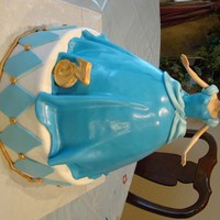 "Cinderella Double layer 12"" bottom. Wondermold pan for Cinderella's body with a real doll stuck in. Covered in MMF with MMF accents. #2 is..."