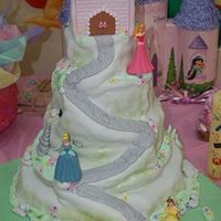 Princess Cake I made this cake for a friend. It is from Debbie Brown's book. The tiers are 12, 10, 8, 6 inch cakes and the castle was a 4 inch cake...