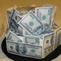 Money The boy wanted a money cake for his birthday and this is what I came up with.