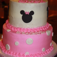 Minnie Mouse Cake For two little girls one turning three and the other turning one. I did a smash cake for the one year old and there were ears that got...