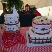 Western Wedding Cake This one just about killed me! I'm still having nightmares three weeks later! Orginally, it was supposed to be stacked, which I tried...