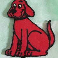 Clifford The Big Red Dog Chocolate Transfer Clifford Chocolate Transfer