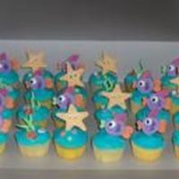 Under-The-Sea Cupcakes My first attempt at using (leftover) fondant to make figures. Based off of a Wilton's cupcake theme. These were made to go on a...