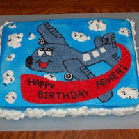 Airplane Birthday Cake Son's 2nd Birthday cake.