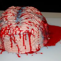 Brain Food I made this birthday cake for someone and since it was close to Halloween, i figured I would give it my twist. Thanks for looking...