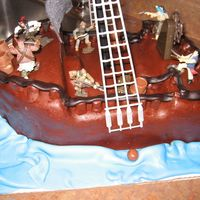 The Black Pearl-A Closer View I would have put in more detail, like woodgraining, if I had more time. We had a combined party for all three of our son's birthdays....