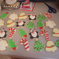 Christmas Cookies  made these for my sorority alum christmas party (explains the pandas) that we didn't get to go too because of bad wintry weather, boo...