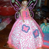 Fairy Princess This is the doll that I decorated, my first try at fondant