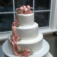 Pink Swags And Gumpaste/fondant Roses