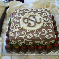 Groom's Cake With Strawberries
