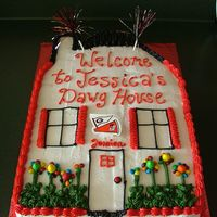House Warming Cake For Ga Fan   This was a house warming cake for a friend who is a big GA Bulldog Fan.