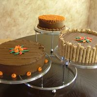 "Fall Cakes   8"",10"" & 12"" White Cake with Choc. Buttercream...."