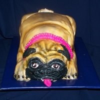 Pugly Cake Pug cake - All cake, buttercream icing, airbrushed with food coloring, was mistaken for a real dog in a box by the waiters and waitresses...