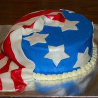 July 4Th Fondant decorations.