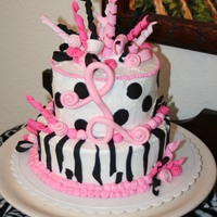 Zebra And Polka Dot For my daughter's 6th bday. Cake matched invitations : )