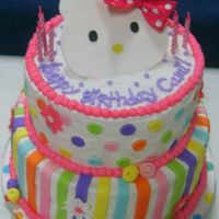 Hello Kitty Birthday I apologize for the fuzziness! I made this for my daughter's 6th birthday. Top was white w/ strawberry and the bottom was chocolate w...