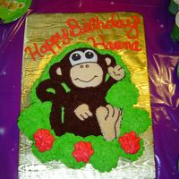 Monkey Cake This was for my daughters 2nd birthday. All buttercream.