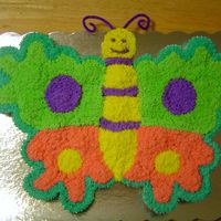 Butterfly Cupcake Cake This was my first cupcake cake for my daughters 1st birthday.