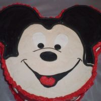 Landon's Cake Another MIckey cake. Thanks to all of them on CC. I did not do such a great job--oh well, Landon and his mommy loved it!