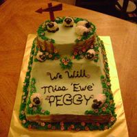 """we Will Miss Ewe"" Retirement Cake Inspired by JaneK's wonderful sheep cake , I made this for my Unit Chief's retirement party. I spent five days and almost 20..."
