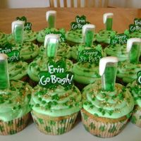 St. Patrick's Cupcakes French vanilla with vanilla burboun buttercream. Pretty basic, I made these for work. This was the first year we didn't have a St....