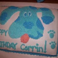 Blues Clues Birthday Cake I am a beginner but I thought it turned out ok.