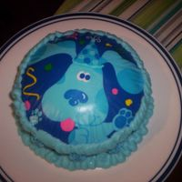 Blues Clues Smash   This was the little smash cake for the child. I used the edible image for this one.