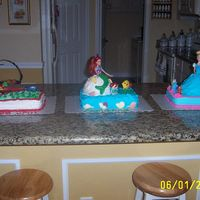 Cinderella, Ariel, & Cars My Triplets 5th Birthday and my 1st time baking. I'm proud of myself