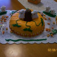 100_0360.jpg Fun Halloween cake for my triplets, made it with buttercream and it was a chocalate cake