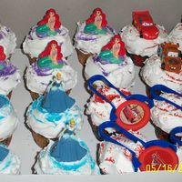 Dcp_1230.jpg This is my first time baking. I made my tripletsfor the 5th birthday a cinderella, little mermaid, & Cars cup cakes for their party at...
