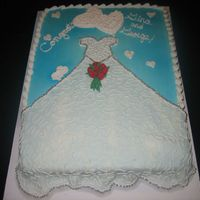 Wedding Shower Dress Cake