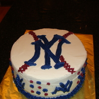 Yankees Birthday Cake madefor my son's 7th birthday