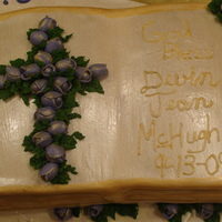 Baptism Cake This did not come out the way I had planned it. Disappointed ,Yes. But I learned alot. Thanks for looking