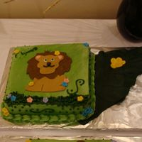 Lion Someone smudged the side of the cake . I noticed it after I uploaded the picture