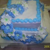 S4021441.jpg My graduation cake from my level 3 cake decorating. I'm so proud of my flowers. My first time and I had lots of fun. The fondant was...