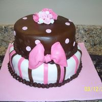 Two Tier Cake With Bow