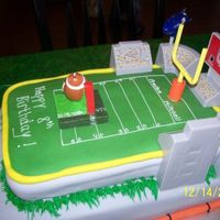 Football Birthday I FOUND A PICTURE OF THIS CAKE ON A BIRTHDAY WEBSITE AND THOUGHT I WOULD GIVE IT A SHOT. IT DIDN'T LOOK EXACTLY LIKE THE PICTURE, BUT...